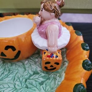 None Accents - Ceramic Halloween candy dish.